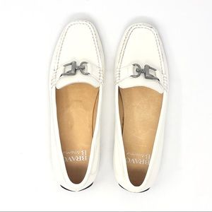 Bravo by Browns White Patent Leather Loafers US 8